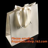 luxury paper shopping bag for jewellry, twist handle luxury print fancy brown kraft art paper carrier bag wholesale for sale