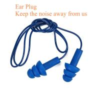 Wholesale Personal Protective Equipment  metal detectable silicone ear plug waterproof swimming ear plug corded earplug silicone from china suppliers