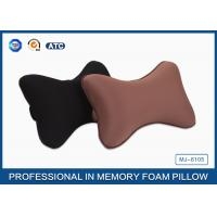Wholesale Black Colour Memory Foam Car Neck Pillow , Auto Head Support Cushion from china suppliers