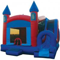 Wholesale Popular Blue Kids Party Bouncer Slide Combo With Pool And Landing from china suppliers
