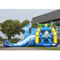 Wholesale 2 In 1 Dolphin Big Bouncy Castles Inflatable With Wacky Dual Slide For Amucement from china suppliers