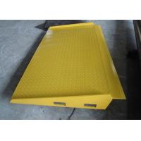 Wholesale Yellow Mobile Hydraulic Loading Ramp Q235B Material 100 ~ 150 Mm Adjust Range from china suppliers