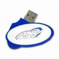 Buy cheap Promotional Blue USB Flash Drive with 5V Operating Voltage, OEM Orders Welcomed from wholesalers