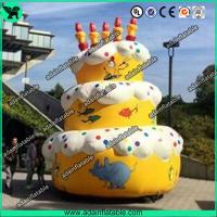 Wholesale 5m Advertising Inflatable Birthday Cake Model With Custom Logo Printing from china suppliers