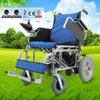 Wholesale Multi Sizes Handicapped  Electric Folding Wheelchair With Swing Away Armrest from china suppliers