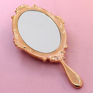 China OEM Bowknot Travel Makeup Mirror Aluminum Engraved Logo , Small Pocket Mirror on sale