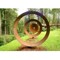 Wholesale Laser Cut Rusty Outdoor Corten Steel Sculpture For Garden Decoration Circle Shape from china suppliers