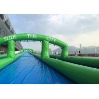 Wholesale Popular 300 Meters Long Carzy Huge Inflatable Slide Air Sealed PVC Tarpaulin from china suppliers