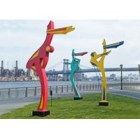 Wholesale Outdoor Dancing Figure Sculpture Painted Metal Sculpture for Public Park from china suppliers