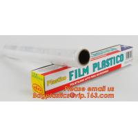 surface protection PE best fresh cling film, China stretch cling wrap manufacturer pe food wrap with sample for sale