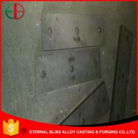 Wholesale HBW500Cr9 Hexagonal Bolt  Holes Flat Plates Ni-hard White Iron 25mm Thick EB10026 from china suppliers