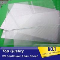 China PLASTICLENTICULAR 70 LPI 3d lenticular lens best 3d sheet lenticular plastic printing lenses for offset press for sale