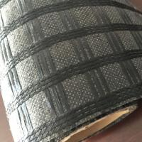 China Black Fiberglass Sewed Geotextile Coating Asphalt Geogrid for Road Construction for sale