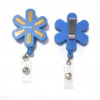 Wholesale Plastic Pull Durable Retractable Key Reels Eco-Friendly Flower Shaped from china suppliers