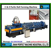 Jinan Golden Machinery Equipment Co Ltd Mail: C And Z Purlin Roll Forming Machine Of Item 105059257