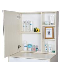 Quality Particle Board Bedroom Makeup Vanity Set White With Mirror / Hidden Cabinet for sale