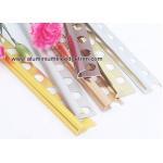 China Quarter Round Aluminium Tile Edge Trim For Outside Corner Tile Edge Protection for sale