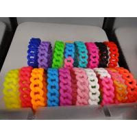 19mm width wholesale CUSTOM twist braided silicone bracelet, Personalized silicone bracelet for sale