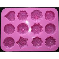 Quality silicone muffin cake molds , flower shape silicone tray  mold ,custom  silicone  mold for sale