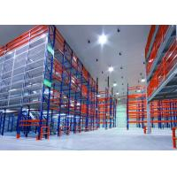 Wholesale Multi - Tiered Mezzanine Floor Racking System , High Density Adjustable Heavy Duty Metal Shelving from china suppliers