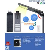 Wholesale Waterproof IP65 Integrated 70W Solar LED Street Light  PIR and Remote Control for Sqaure Light from china suppliers