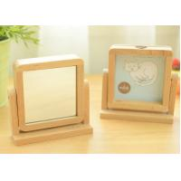 Wholesale wood photo frame wood mirror 2 in 1 beech wood school/office gift from china suppliers
