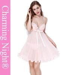 Nylon / Polyester Girls Babydoll For Honeymoon Mature Women Sexy Nightwear