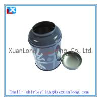 Wholesale small round tin boxes round tea tin box from china suppliers