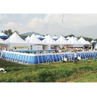 Quality Customized Amusement Park Metal Frame Pool With Dinosaur Water Slide for sale