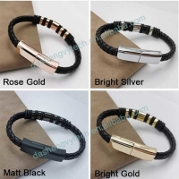 Wholesale USB 2.0 Charging Cable Phone Charger Bracelet With Rings 5V 2.4A 20cm from china suppliers