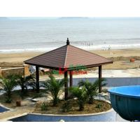 Buy cheap Plastic Wood Composite Custom Made Gazebo Waterproof Weather Resistant On The from wholesalers