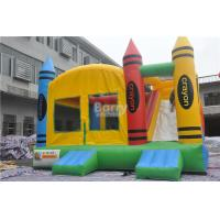 Wholesale PVC Tarpaulin Inflatable Combo , 5x4x3.6m Kids Inflatable Bounce House With Slide from china suppliers
