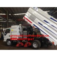 Wholesale Euro III Engine95HP/PS Trash Garbage Compactor Truck , Sinotruk 4m3 Road Sweeper Truck from china suppliers