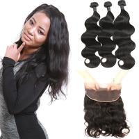 Wholesale Smooth 9A 360 Lace Frontal Body Wave 22 Inch 100 Raw Virgin Hair No Tangle from china suppliers