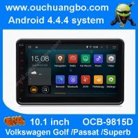 Quality Ouchuangbo android 4.4 VW Caddy EOS Polo 10.1 inch big screen 3G WIFI USB free map 47 core for sale