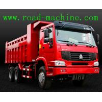 Quality Transport Blue / Yellow / Red HOWO 6 x 4 Dump Truck 25 ton ZZ3257N3647A for sale