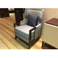 Wholesale Elegant Wooden Style Hotel Room Chairs High Density Foam Environment - Friendly from china suppliers