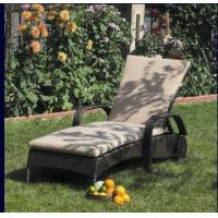 Wholesale Beach Rattan Sun Lounger With Aluminium Frame Outdoor Rattan Daybed from china suppliers