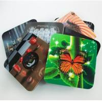 Wholesale 2020 fashion christmas 3D Lenticular greeting cards,glitter printing cards 3D lenticular postcard from china suppliers