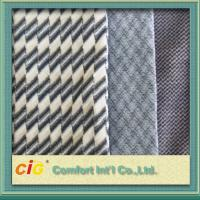 Bus / Car Interior Decoration Striped Auto Upholstery Fabric / Contemporary Upholstery Fabric for sale