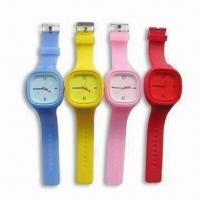 Wholesale Jelly Watches, Made of Silicone, Flexible and Stylish, Available in Various Colors from china suppliers