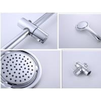 Quality 9 Inch ABS Plastic Round Shower Head , Durable Stainless Shower Slide Bar for sale