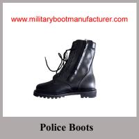 Wholesale Wholesale China Made Full Leather Police Goodyear Boot with Size Zipper from china suppliers