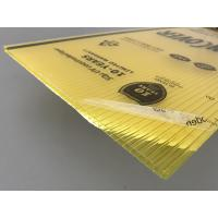 Wholesale Yellow Color Polycarbonate Twin Wall Roofing Sheets 4mm - 10mm Thickness from china suppliers