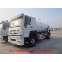 Wholesale HOWO Vacuum Sewage Suction Truck / Sinotruk 4.58 L Displacement 4x2 10 - 16m3 Sewer Cleaning Truck from china suppliers