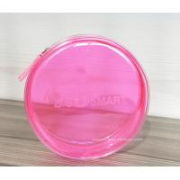 Wholesale Round Pink Clear Plastic Toiletry Bags For Women Heat-Sealed Welded from china suppliers
