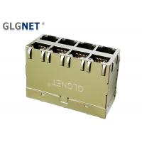 Wholesale Magnetic RJ45 Connector 10G RJ45 Jack 2 x 4 Ports EMI Gasket Built In Light pipes from china suppliers
