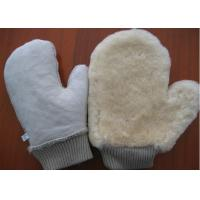 Thumb Design Sheepskin Car Wash Mitt With Non Scratching Fabric Upside
