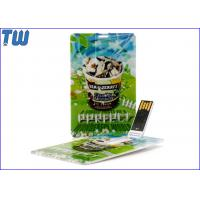 China Promotion Customized Digital Printing Credit Card USB Flash Drive for sale