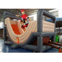 Quality Outdoor Durable Commercial Inflatable Slide , Cheap Inflatable Surf N Slide With Customized Size for sale